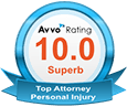 Avvo Superb Personal Injury Attorney